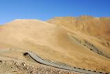 The road down Pang-la Pass