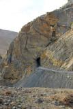 Narrow tunnel. New Tingri-EBC Road