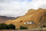 House among ruins, New Tingri to Everest Base Camp road