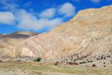 Folded mountain, Dzaka Valley near Pagsum