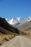 The road just before it turns slightly left to Everest