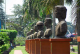 Busts of historic figures from Filipino history