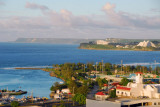 View of the Agana Boat Basin and Paseo de Susana to Tamuning and the northwest coast of Guam