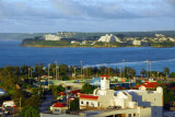 Chamorro Village, Hagåtña, from Fort Santa Agueda with the Sheraton Hotel in Tamuning across the bay