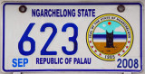 Palau License Plate - Ngarchelong State