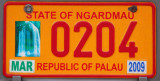 Palau License Plate - State of Ngardmau