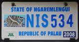 Palau License Plate - State of Ngaremlengui