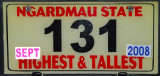 Palau License Plate - Ngardmau State Highest & Tallest