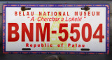 Palau License Plate - Belau National Museum