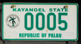 Palau License Plate - Kayangel State