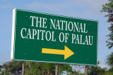 Here's the main turnoff for the Capitol...paved road