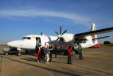 Arriving in Bahir Dar on Ethiopia Airways Fokker 50