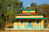 Small Ethiopian Orthodox church at the base of the Yeha Hotel