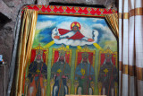 Painting of 4 enthroned religious figures, Bet Maryam