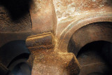 Column, arches and ceiling, interior of Bet Danagehel, Lalibela