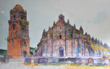 Painting of Paoay Church in the Malacanang of the North