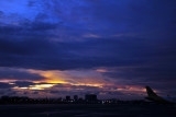 Sunset from the ramp of Manila Airport Terminal3