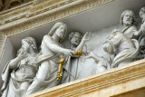 Relief sculpture over the central portal to St. Peter's Basilica