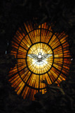 Alabaster window of the Holy Spirit as a dove above St. Peter's Chair