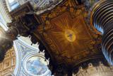 Bernini's Baldaquin (1633) over the Papal Altar