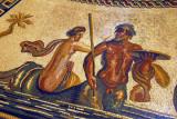 Mosaic floor of the Sala Rotonda of a nymph riding a triton, Museo Pio-Clementino