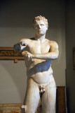 Ancient replica of the Apoxyomenos of Lysippos, Museo Pio-Clementino