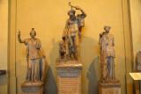 Early Hellenistic Silen (center), Roman (Trajan) Museo Chiaramonti (inv 1441)