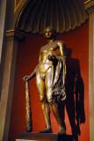 Gilded bronze statue of Hercules, 2nd C, Sala Rotonda