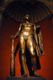 Gilded bronze statue of Hercules from the Theater of Pompey, 2nd C