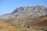 North face of Jabal Ghul with the Jabal Shams Road
