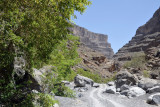 Wadi An Nakhur with the cliffs rising 1000m on either side