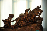 Sculpture in on of the 80 galleries of the  Victorious Fatherland Liberation War Museum