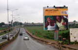 The road from Lagos Airport to Ikeja