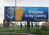 Billboard for Nigeria's Star Beer outside Lagos Airport
