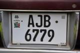 Zambia license plate