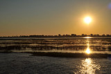 Sunset over the Namibian side of the Chobe River