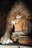 Partially ruined Buddha statue, Nyaung Ohak
