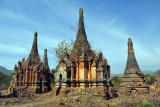 I would guess these date from the same period as the temples of Bagan - 11th to 13th Century