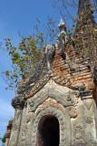 Ornate stucco doorway to a Nyaung Ohak pagoda