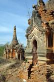 Ornate stupas, Nyaung Ohak