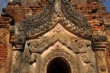 Decorative stucco pagoda entrance