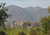 The nearby forest of stupas at She Inn Thein