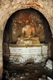 The head of the Buddha has surprisingly not been carried off