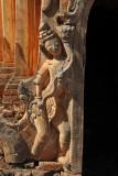 Sculpture flanking a temple entrance, Nyaung Ohak