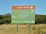 Road to the University of Namibia