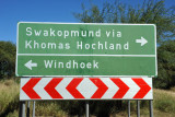 Road in front of Daan Viljoen