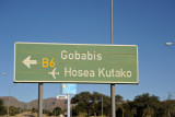 Roadsign for Hosea Kutako Airport