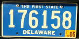 Delaware license plate - The First State
