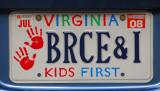 Virginia license plate - Kids First