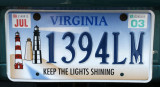 Virginia license plate - Lighthouses